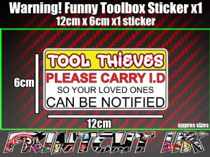 Funny Rude Toolbox Sticker decal tool box tools workshop drill makita dewalt TT